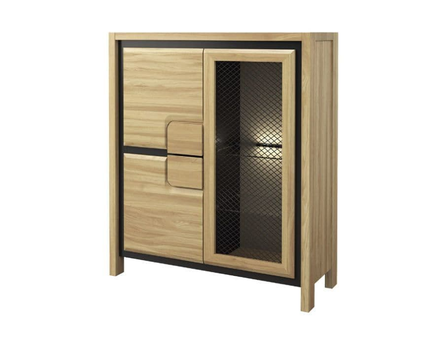 Nicholas Wooden Assembled Low Display Cabinet Highboard