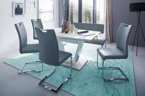 Nico 140cm White Gloss Dining Table