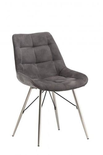 Norman Grey Fabric Dining Chair