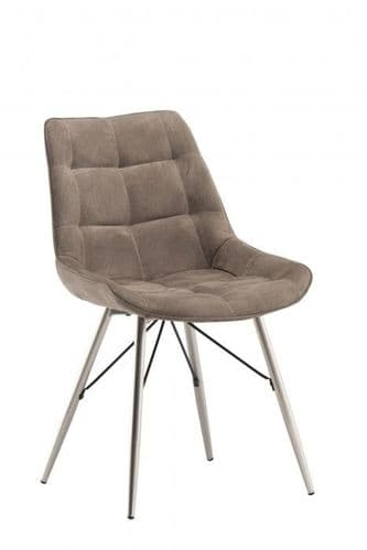 Norman Taupe Fabric Dining Chair