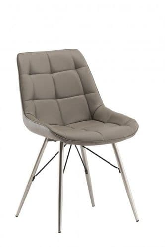 Norman Taupe Leather Dining Chair