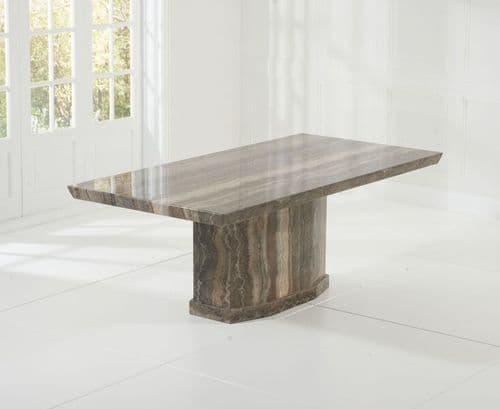 Oscar Marble Dining Table Brown Dining Room Furniture