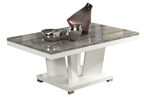 Paolo 120cm Italian White And Wood Gloss Coffee Table
