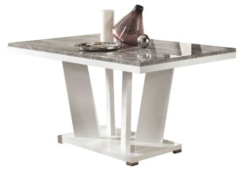 Paolo 160cm Italian White And Wood Gloss Dining Table