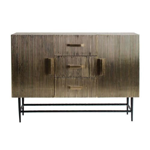 Patricia Luxe 120cm  Old Gold Iron Sideboard