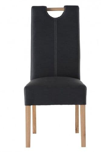 Peggy Black Leather Dining Chair