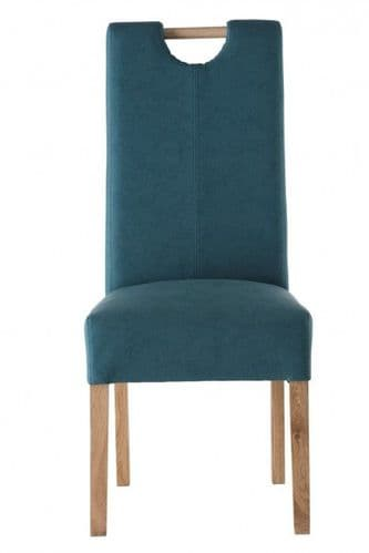 Peggy Leather Teal Dining Chair