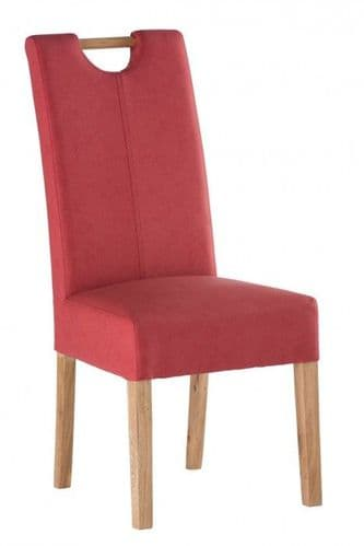 Peggy Red Leather Dining Chair