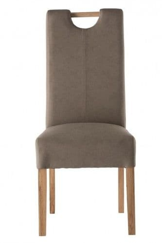 Peggy Taupe Leather Dining Chair