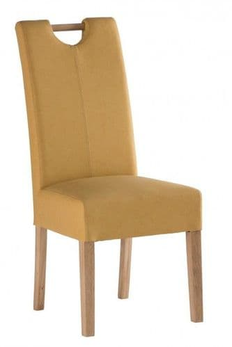 Peggy Yellow Leather Dining Chair
