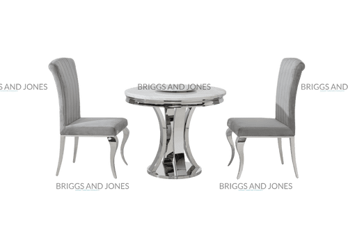 Reach 90cm Small Round White Marble Dining Table