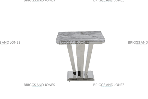 Ricky Small 80cm Square Grey Marble Dining Table