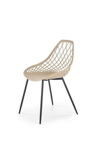 Scholey Beige Vegan Friendly Plastic Dining Chair