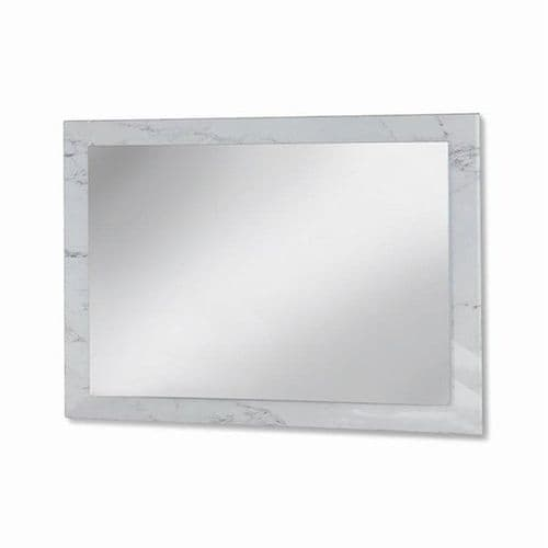 Small White Marble Gloss Mirror