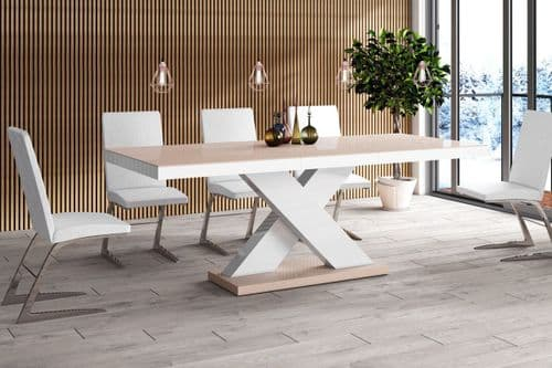 Stelsa Extending Dining Table Cappuccino Top