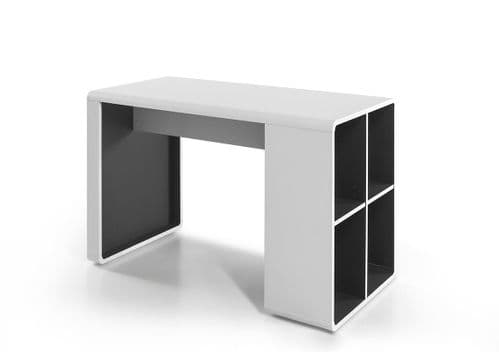Tadoush 119cm White And Anthracite Office Desk