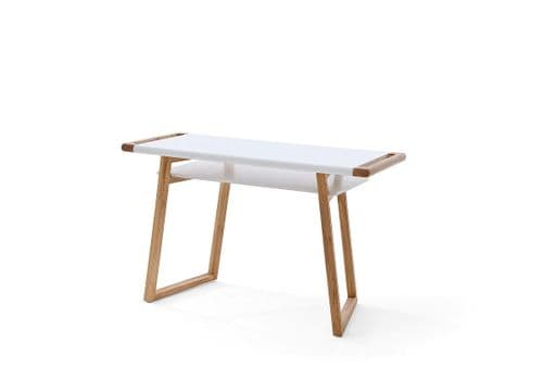 Terry 122cm White And Oak Office Desk