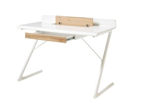 Tilly White Matt And Oak Office Desk