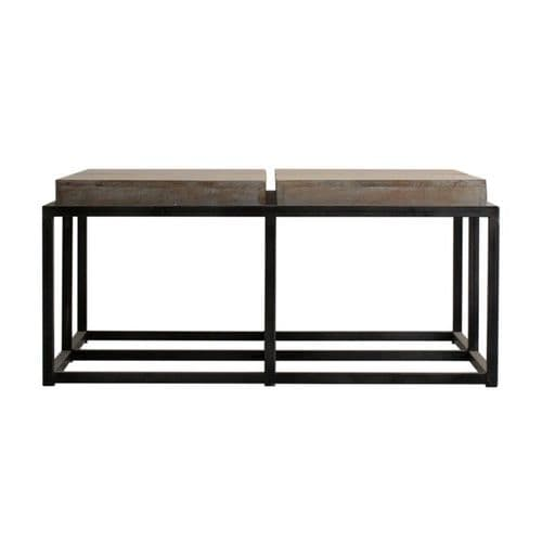 Ureka  Solid Wood  Brown Large Square Coffee Table