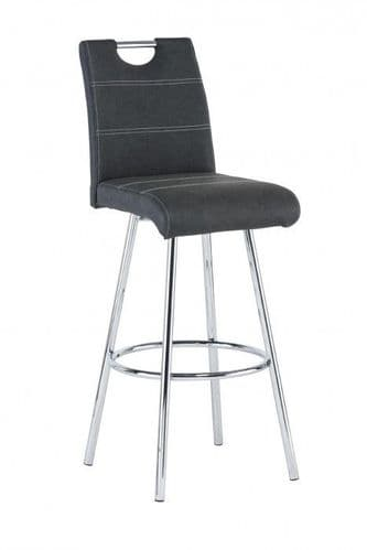 Valance Black Bar Stool