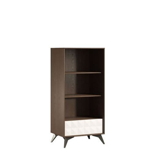 Zeena Bookcase Beige Cream and Chocolate Home Furniture