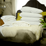 Super King Size Summer Silk-Filled Duvet + Silk-Filled Mattress Topper + 4 Silk-Filled Pillows
