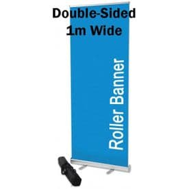 Double-Sided Roll Up Banner Stands 1M X 2M with padded bag