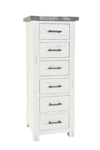 Purbeck 6 Drawer Tall Narrow  Chest