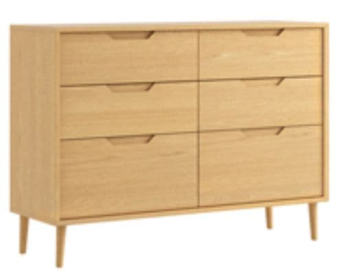 Turin 6 Drawer Twin Chest