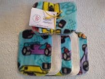 Bamboo & Fleece Wipes Pack 10 Racing Car Design