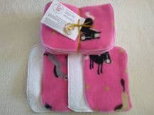 Towelling & Fleece Wipes Pack 10 Pink Pony Design Clearance