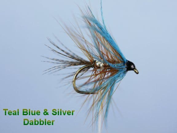 Teal Blue & Silver Dabbler