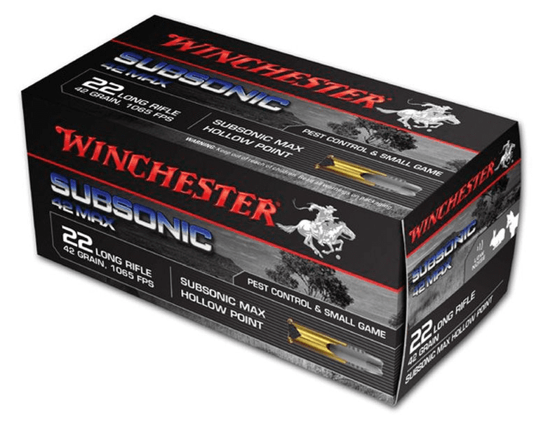 Winchester .22 LR Subsonic 42gr Hollow Point