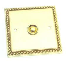 Georgian Square Bell Push in Polished Brass