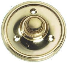 Victorian Bell Push Round Polished Brass
