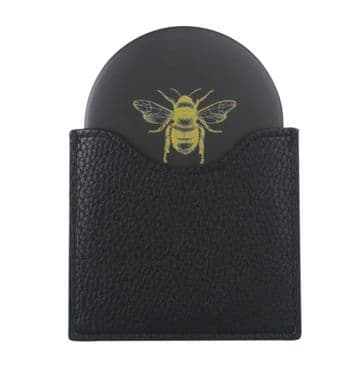 Alice Wheeler Bumblebee Handbag Mirror - Black