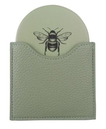 Alice Wheeler Bumblebee Handbag Mirror - Green