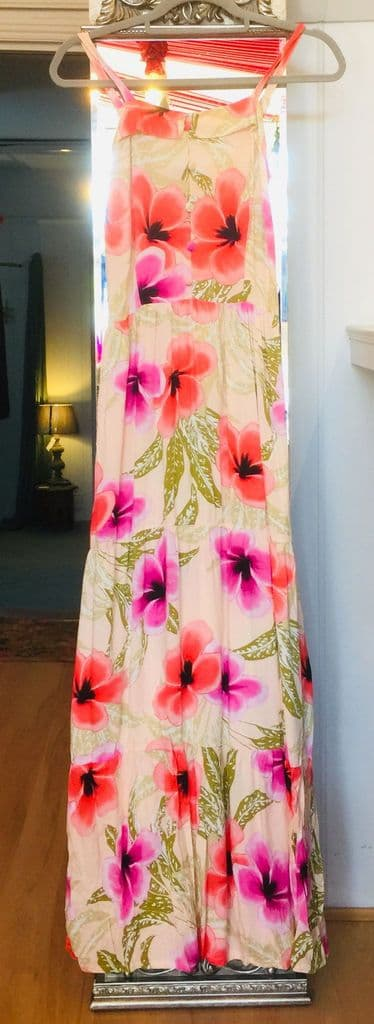 Dress - Tiered Maxi - Floral - Cream