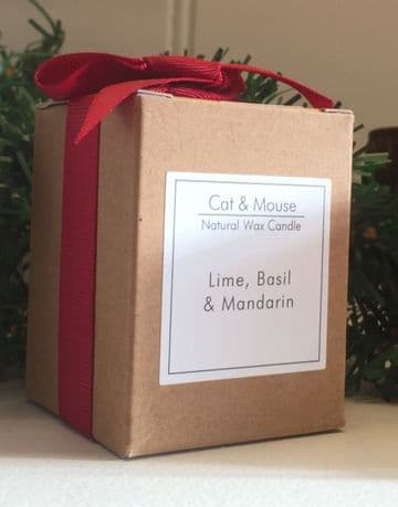 Scented Candle  20cl in a Gift Box - Lime Basil & Mandarin