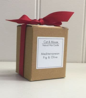 Scented Candle  9cl in a Gift Box - Mediterranean Fig & Olive