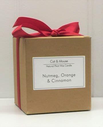 Scented Candle  9cl in a Gift Box - Nutmeg, Orange & Cinnamon