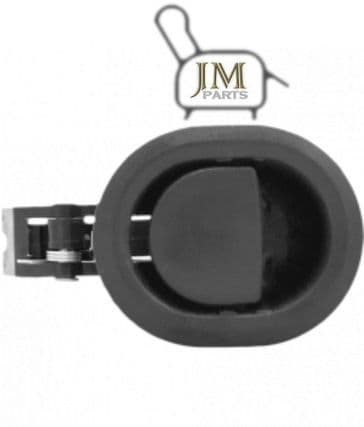 JM08 black plastic recliner handle