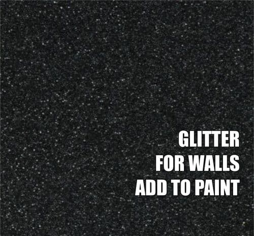 FINE BLACK GLITTER ADDITIVE FOR WALLS - ADD TO PAINT - 100g