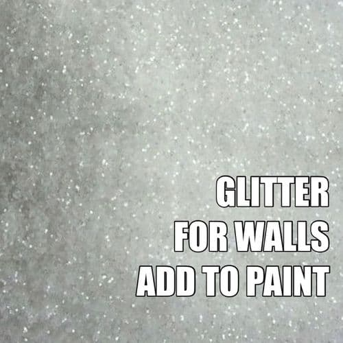 FINE CLEAR WHITE GLITTER ADDITIVE FOR WALLS - ADD TO PAINT - 100g
