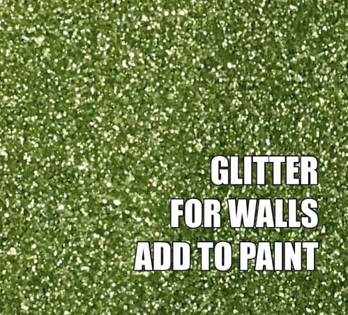 FINE LIGHT GREEN GLITTER ADDITIVE FOR WALLS - ADD TO PAINT - 100g