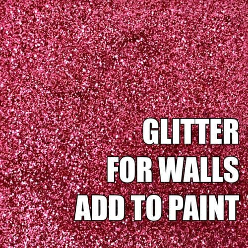 FINE RASPBERRY PINK  GLITTER ADDITIVE FOR WALLS - ADD TO PAINT - 100g