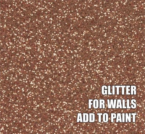FINE ROSE GOLD GLITTER ADDITIVE FOR WALLS - ADD TO PAINT - 100g