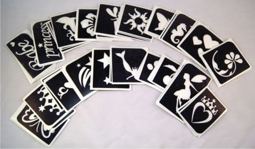 MIXED PACK OF 100 STENCILS - choose tour own designs