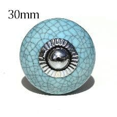 30mm blue crackle round