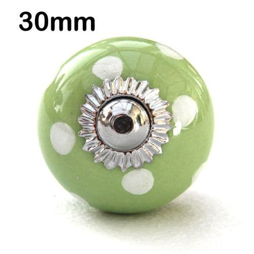 30mm green/white spots